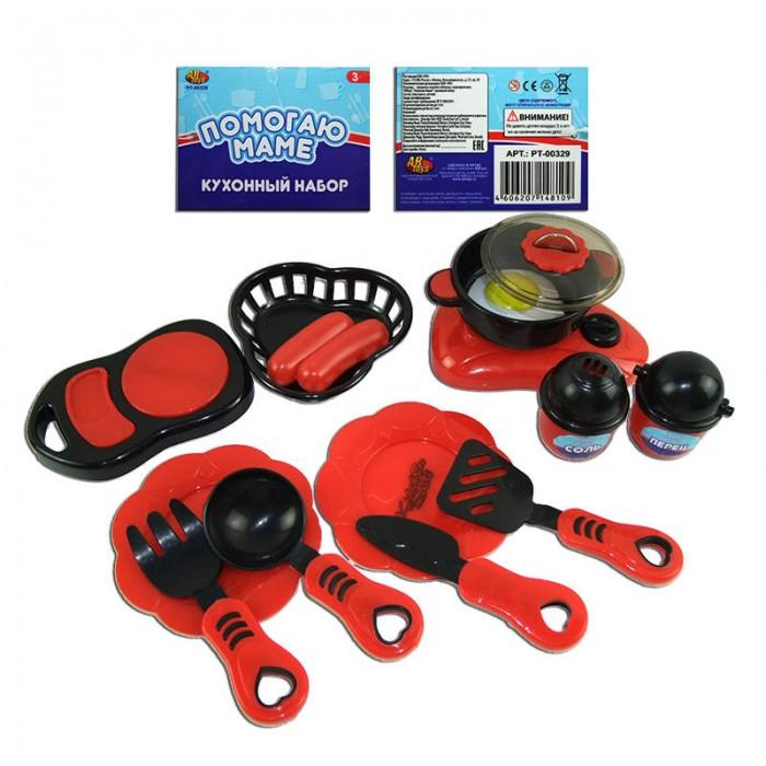 Ролевые игры ABtoys Набор посуды для кухни с продуктами в наборе 14 предметов