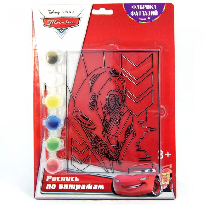 наборы для рисования фабрика фантазий набор для росписи витража тачки Наборы для творчества Disney Набор для росписи витража Тачки Маквин