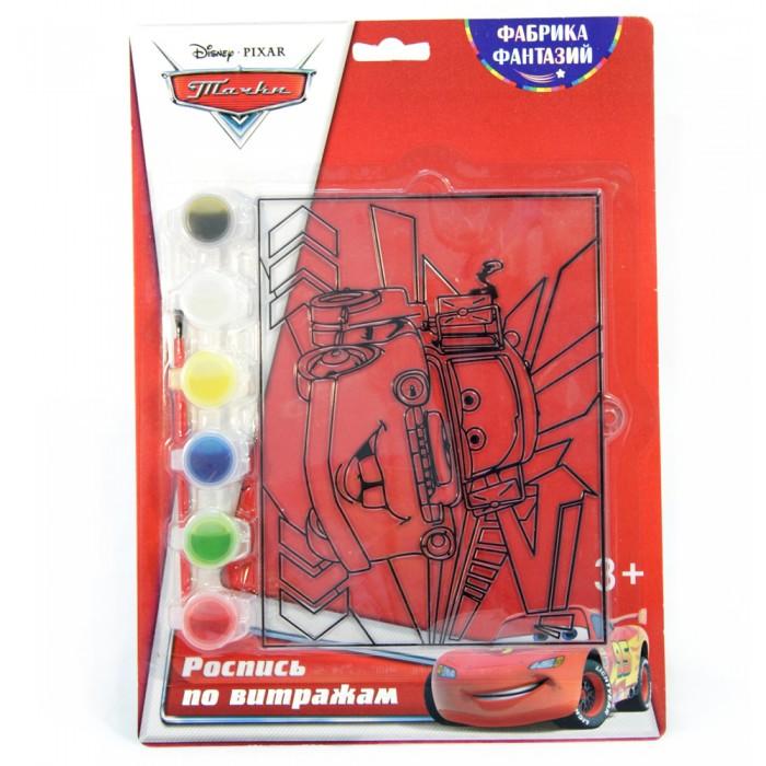 наборы для рисования фабрика фантазий набор для росписи витража тачки Наборы для творчества Disney Набор для росписи витража Тачки Мэтр