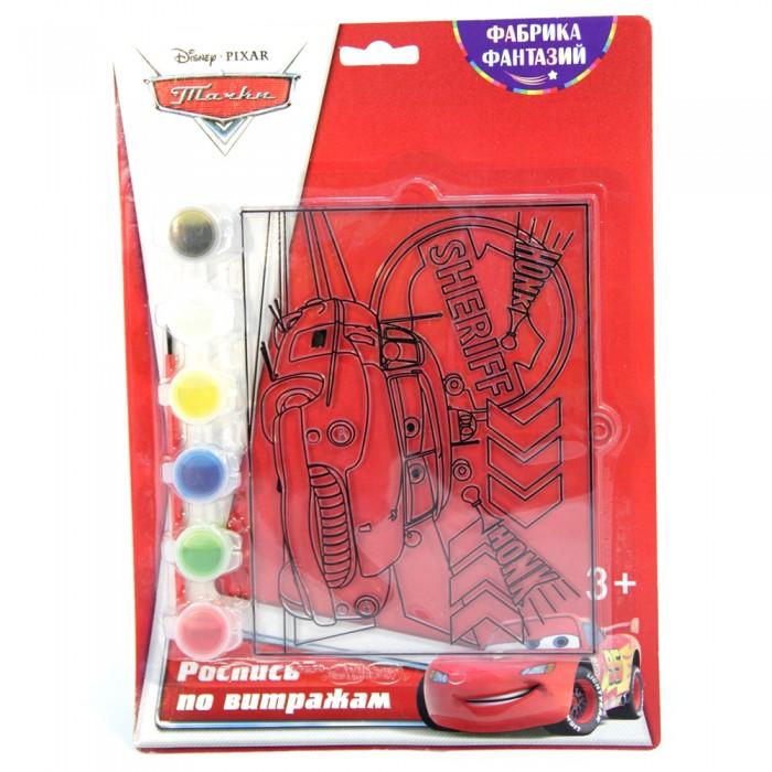 наборы для рисования фабрика фантазий набор для росписи витража тачки Наборы для творчества Disney Набор для росписи витража Тачки Шериф