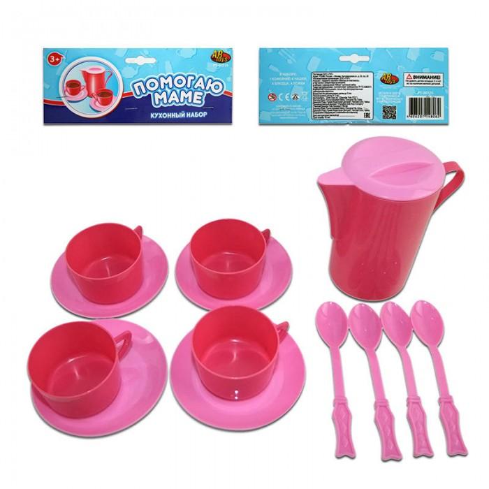 Ролевые игры ABtoys Помогаю Маме Набор посуды для кухни 13 предметов