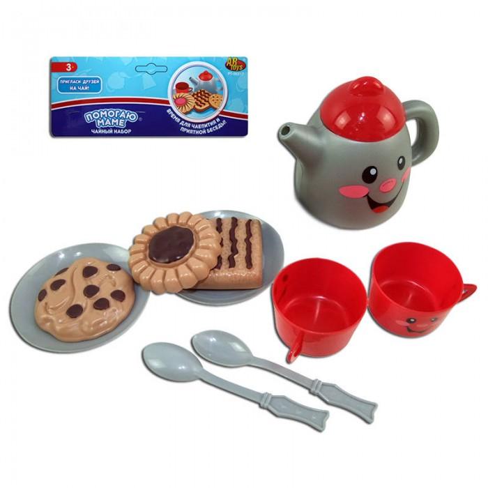 Ролевые игры ABtoys Помогаю Маме Набор посуды для чаепития 10 предметов игровой набор abtoys помогаю маме с посудой и продуктами 8 пр