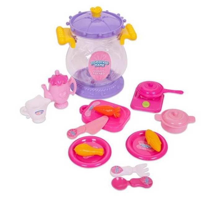 Ролевые игры ABtoys Помогаю маме Набор посуды для чаепития 15 предметов abtoys помогаю маме для чаепития 10 предметов pt 00317