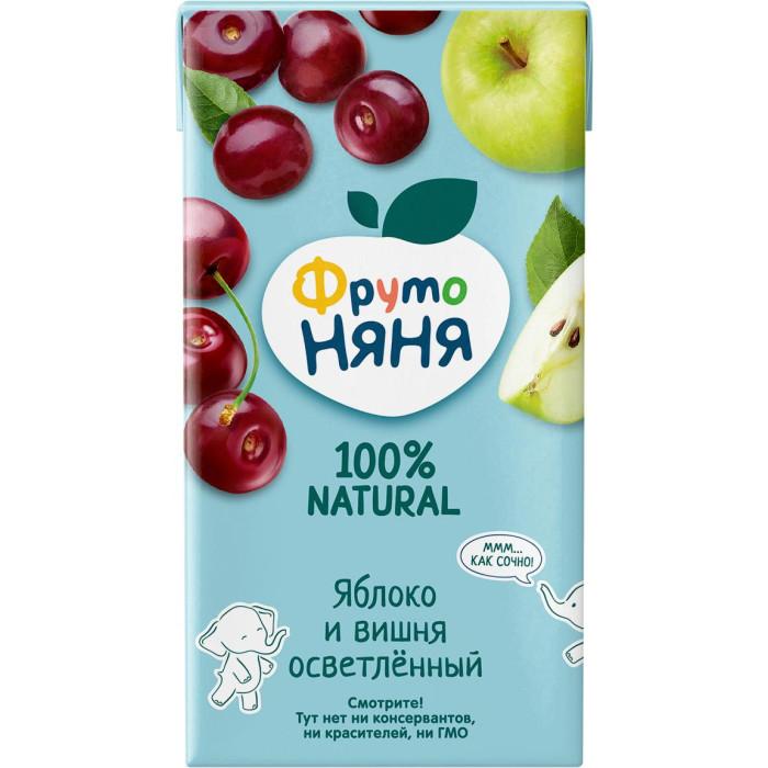 Соки и напитки ФрутоНяня Сок яблочно-вишневый осветленный с 5 мес. 500 мл karl fazer julia конфеты темный шоколад с ананасово абрикосовым мармеладом 350 г