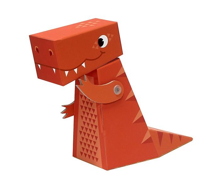 Конструкторы Krooom Игрушки из картона модель Fold My… Тиранозавр развивающие игрушки tolo toys тиранозавр рекс
