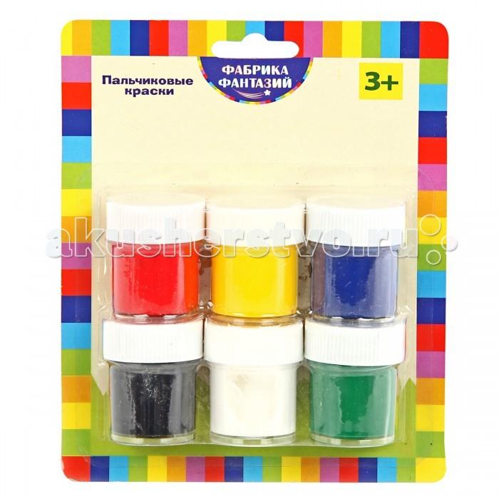 Краски Фабрика фантазий Пальчиковые краски 6 цветов 15 мл луч пальчиковые краски кроха флуоресцентные 6 цветов