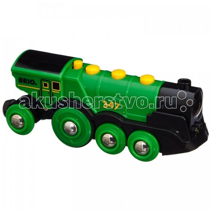 Brio Деревянный Локомотив (свет, звук, движение) Зеленый