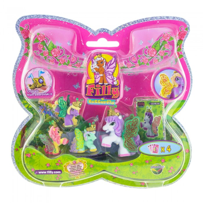 Игровые наборы Filly Набор игровой Лошадки-бабочки с блестящими крыльями Nina игровые наборы esschert design набор игровой kg118