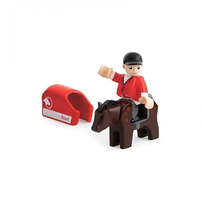 Игровые наборы Brio Игровой набор Лошадка с попоной и наездник набор игровой с американскими горками brio 33730
