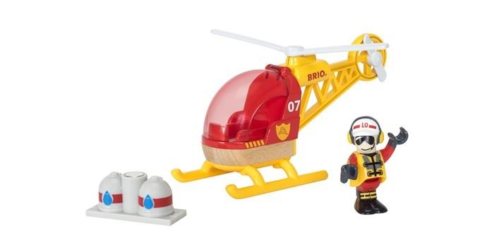 Игровые наборы Brio Игровой набор Спасательный вертолет 3 элемента  игровые наборы brio игровой набор трейлер для путешествий 4 предмета