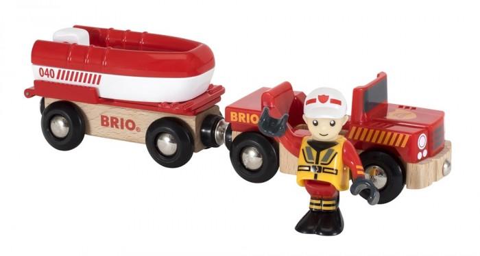 Игровые наборы Brio Игровой набор Пожарный транспортер катера 4 элемента игровые наборы tomy игровой набор приключения трактора джонни и лошади на ферме
