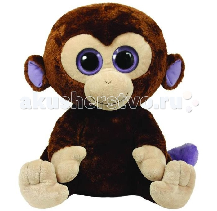 Мягкие игрушки TY Beanie Boos Обезьянка Coconut 40 см ty beanie boos original 6 18cm boom boom the purple panda beanie baby plush stuffed animal collectible soft doll toy kids gifts