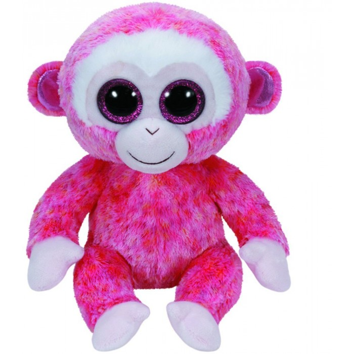 Мягкие игрушки TY Beanie Boos Обезьянка Ruby 25 см new arrival ty beanie boos big eyes kaola plush toy doll kawaii ty original stuffed animals for children s christmas gifts toys