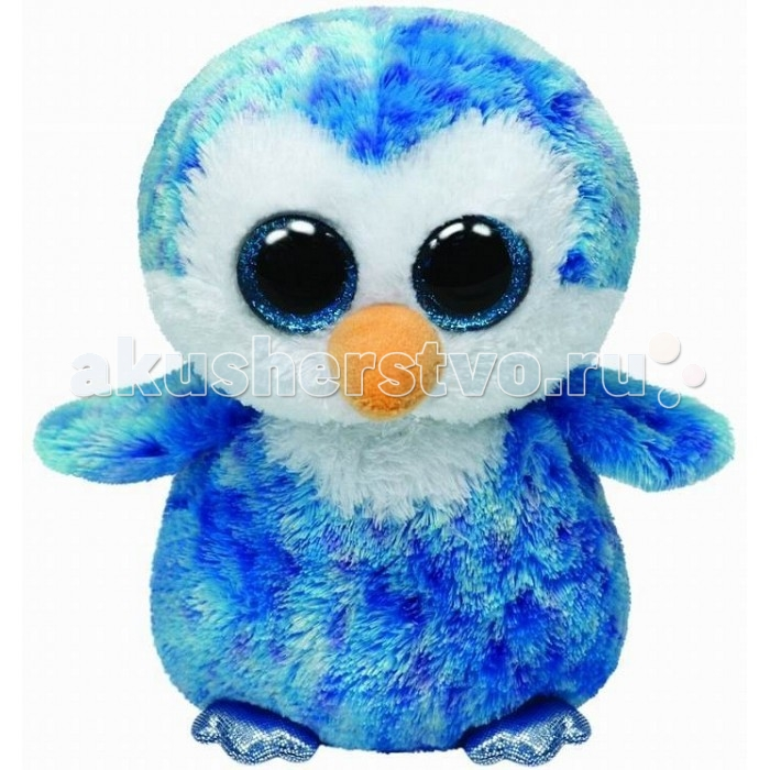 Мягкие игрушки TY Beanie Boos Пингвин Ice Cube 25 см new arrival ty beanie boos big eyes kaola plush toy doll kawaii ty original stuffed animals for children s christmas gifts toys