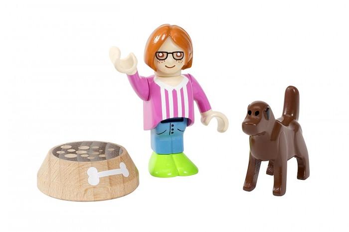 Игровые наборы Brio Игровой набор Девочка с собакой 3 предмета набор игровой с американскими горками brio 33730