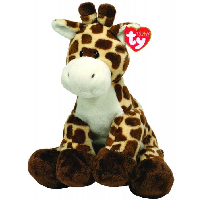 Мягкие игрушки TY Pluffies Жираф Tiptop 25 см цена