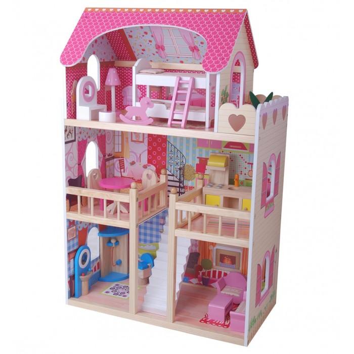 Edufun Кукольный дом с мебелью EF4109Кукольный дом с мебелью EF4109Edufan Кукольный дом с мебелью EF4109 предназначен для девочек от трех лет. Он создан из комбинированного материала, полностью безопасного для ребенка. Благодаря наличию множества комнат, дополнительных аксессуаров, игрушка станет функциональным дополнением для развивающих и ролевых игр.  Особенности: Домик имеет три этажа.  Все детали тщательно обточены, они не имеют острых углов и зазубрин. Это гарантирует ребенку полную безопасность. Для домика подходят куколки размером 12 см<br>