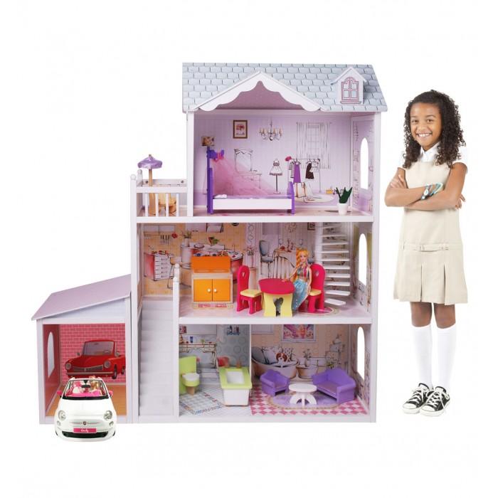 Кукольные домики и мебель Edufun Кукольный дом с мебелью EF4108 кукольные домики и мебель kidkraft большой кукольный дом великолепный королевский особняк с мебелью