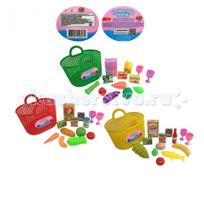 Ролевые игры ABtoys Помогаю Маме Набор продуктов в корзине 13 предметов кухни и столовые группы