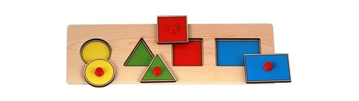 Деревянные игрушки Wooden Toys Сборная модель Геометрические фигуры