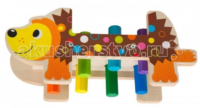 Деревянная игрушка Alex Игрушка для ванны Набор ДикобразИгрушка для ванны Набор ДикобразНабор Дикобраз - игровой набор для самых маленьких, который помогает развитию мелкой моторики и координации движений. Малышу нужно помочь дикобразу, потерявшему свои иголки - вбить колышки (иголки) при помощи молоточка.   В наборе: деревянная основа, изображающая дикообраза, 8 ярких цветных колышков и молоток.   Для детей от 1,5 до 3-х лет.<br>