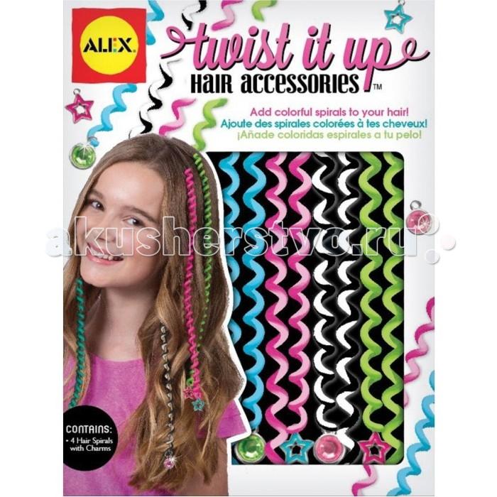 Аксессуары Alex Набор для украшения волос цветные спирали, Аксессуары - артикул:217933