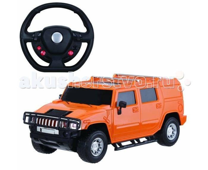 Пламенный мотор Машина на р/у Превосходство скорости Джип на аккумуляторе (свет) 1:16Машина на р/у Превосходство скорости Джип на аккумуляторе (свет) 1:16Яркая и необычная машинка Превосходство скорости, представленная в виде знаменитого внедорожника Hummer, придется по душе маленьким и взрослым любителям автомобилей. Игрушка ярко-оранжевого цвета и сделана из качественного пластика. В комплекте есть аккумуляторные батареи, пульт управления в виде руля и машинка. При езде у машинки ярко загораются передние и задние фары.   В комплекте:    Машина; Пульт управления в виде руля; Аккумуляторные батареи.  Особенности:   Размер упаковки: 45 x 15 x 32 см Масштаб: 1:16 Скорость машинки: 10 км/ч.<br>