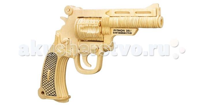 Конструкторы Wooden Toys Сборная модель Пистолет кольт Питон смит вессон 500 магнум