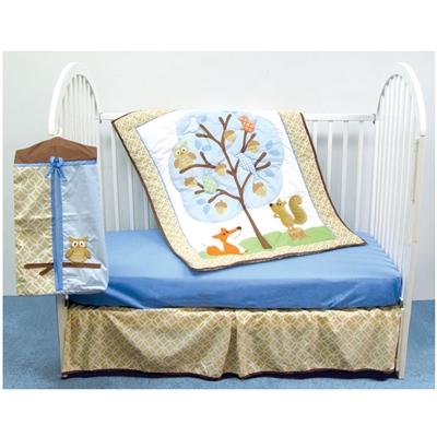 Комплект в кроватку Luvable Friends Лесные звери для мальчика (4 предмета)