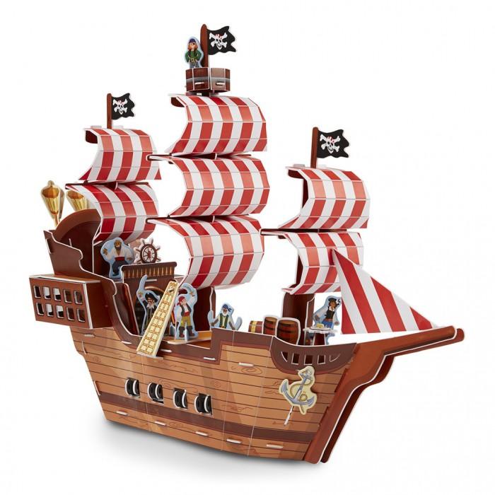 Конструкторы Melissa & Doug 3D Пазл Пиратский корабль конструкторы melissa