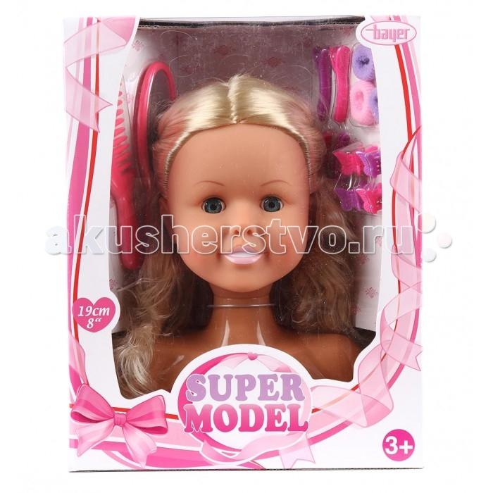 Куклы и одежда для кукол Bayer Кукла-модель Торс для создания причесок с аксессуарами игровой набор funville кукла модель pixy punks для создания причесок с аксессуарами в ассортименте