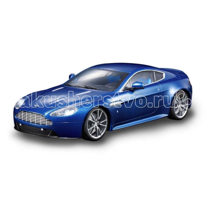 Auldey Машина на батарейках радиуоправляемая ASTON MARTIN - V8S LC258030-6Машина на батарейках радиуоправляемая ASTON MARTIN - V8S LC258030-6Радиоуправляемая модель Aston Martin Vantage легко разгоняется до 9 км/ч, а если включить турбо-режим - до всех 11 км/ч. Автомобиль может тормозить передними колесами, а также включать задние и передние фары.  Дистанционный пульт, работающий на двух батарейках АА, действует на расстоянии до 30 м. Сама машина работает на четырех батарейках АА.  Британские суперкары Aston Martin, прославившиеся на весь мир благодаря серии кинофильмов про Джеймса Бонда, даже в наш век повсеместной автоматизации собираются вручную. Само собой, дешевле они от этого не становятся.<br>