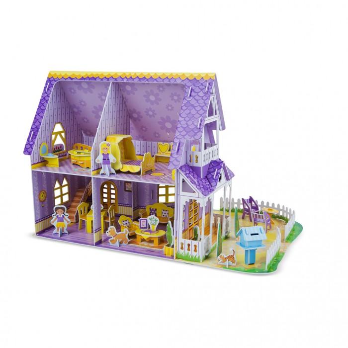 Пазлы Melissa & Doug Пазл 3D Пурпурный домик для куклы пазлы crystal puzzle 3d головоломка вулкан 40 деталей