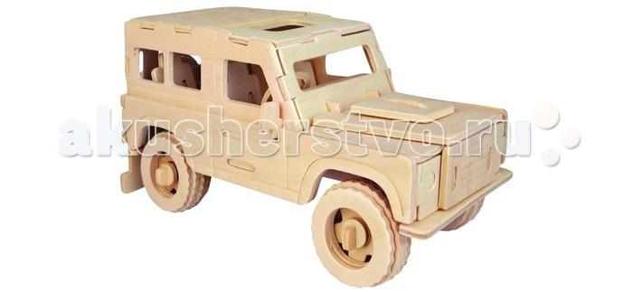 Конструкторы Wooden Toys Сборная модель Английский внедорожник набор для творчества чудо дерево сборная деревянная модель внедорожник p123