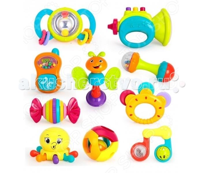 Погремушки Huile Toys Набор погремушек набор игрушек погремушек малышарики 10 шт