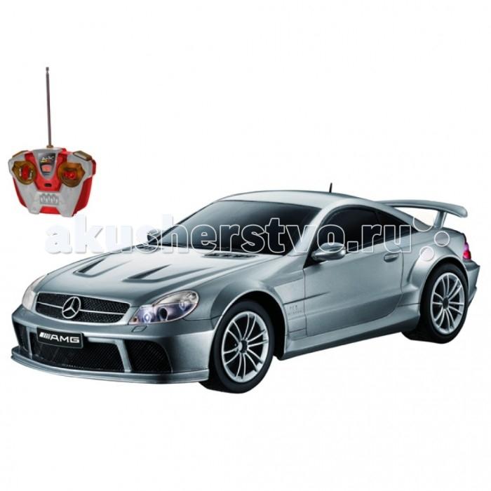 Auldey Машина на батарейках радиуоправляемая Mercedes-Benz SL65 LC258760-8Машина на батарейках радиуоправляемая Mercedes-Benz SL65 LC258760-8Радиоуправляемая машинка Mercedes Benz SL65 — это полноценно функционирующая копия настоящего спортивного автомобиля, выполненная в масштабе 1:16.  Игрушка контролируется с пульта посредством радиосигналов, передаваемых по четырем каналам, что обеспечивает мгновенный отклик на команды, надежность управления и точность выполнения маневров и автотрюков.  Кроме того, машинка оснащена полноприводной независимой подвеской и резиновыми шинами. Это позволяет управлять игрушкой почти так же умело, как реальной машиной.  Элементы корпуса функциональны и дополняют полноту игры: капот, дверцы и багажник открываются, предоставляя доступ к двигателю и в салон.  При движении передние фары машинки освещают дорогу, а во время торможения загораются красные стоп-сигналы.<br>