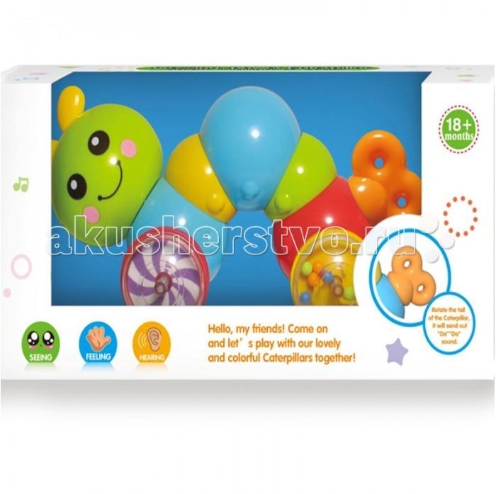 Электронные игрушки Huile Toys Игрушка-каталка Гусеница Y1567385 детская пирамидка huile toys 619