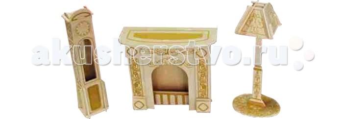 Конструкторы Wooden Toys Сборная модель Каминная комната  цена