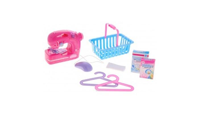 Ролевые игры ABtoys Помогаю Маме Швейная машинка со светом и звуком в наборе с аксессуарами