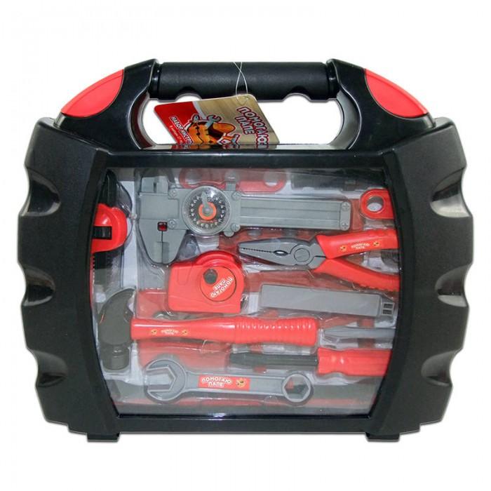 Ролевые игры ABtoys Помогаю Папе Набор инструментов в чемодане 27 предметов набор инструментов в чемодане 100 предметов курс 65090