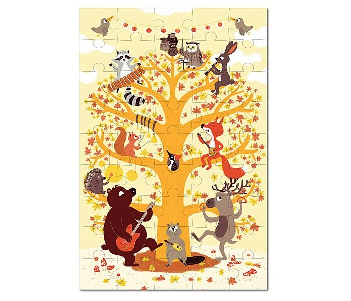 Пазлы Krooom Игрушки из картона: пазл Лесные животные игнатова а лесные животные