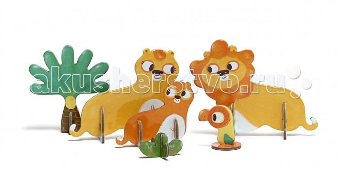Конструкторы Krooom Игрушки из картона: 3D пазл Львы игрушки из картона 3d пазл львы krooom ут 00009493