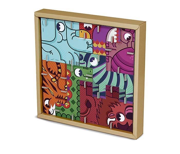 Конструкторы Krooom Игрушки из картона: 3D пазл - головоломка Сафари 3d головоломка лебедь черный
