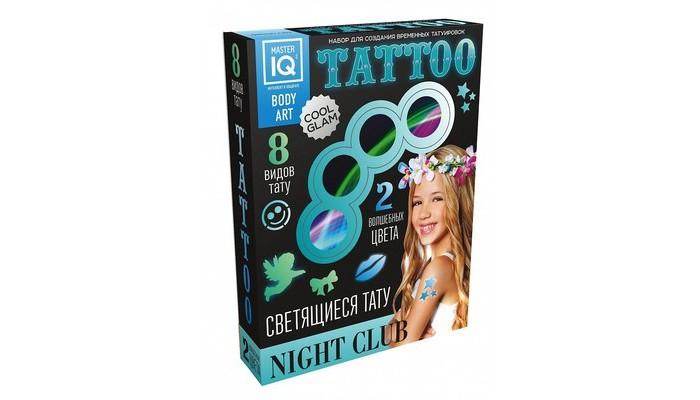 Наборы для творчества Каррас Набор для временных татуировок NIGHT СLUB светящиеся С005 набор для творчества master iq создание временных татуировок тату party 8 видов тату с009