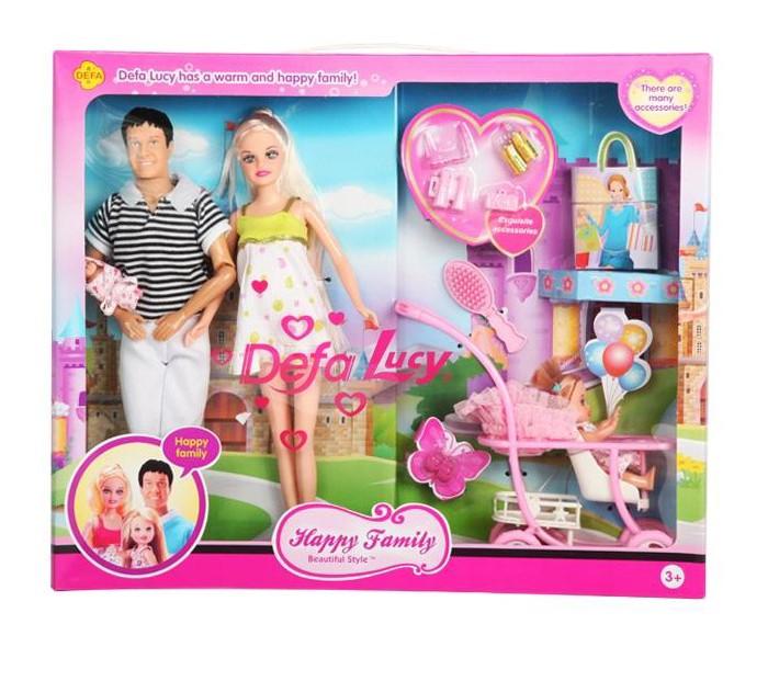 Куклы и одежда для кукол Defa Lucy набор кукол с беременной мамой и аксессуарами кукла defa lucy 270 228984