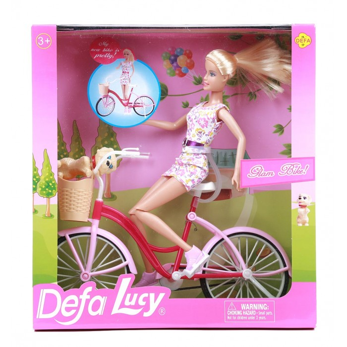 Куклы и одежда для кукол Defa Lucy кукла на велосипеде с аксессуарами 28 см кукла defa lucy модная white light blue 8316bl