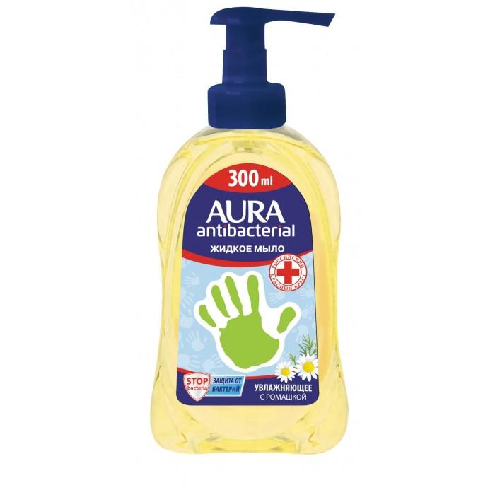 Детская косметика Aura Мыло жидкое с антибактериальным эффектом Ромашка 300 мл мыло жидкое mon platin мыло жидкое ароматическое