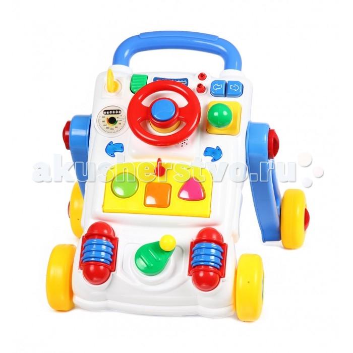 Ходунки Fivestar Toys Маленький водитель BeilexingМаленький водитель BeilexingИгровой развивающий центр Fivestar Toys Маленький водитель Beilexing со звуковыми и световыми эффектами непременно придется по душе вашему малышу.    Особенности   световые и звуковые эффекты  мелодии и звуки стимулируют слуховые навыки  яркие элементы помогают развивать чувство цвета  каталка-ходунки способствует развитию двигательной и зрительной координации   Все элементы набора выполнены из безопасных для детского здоровья материалов.   Тип батареек: 3 x AA Размер: 49 х 33 х 15 см<br>