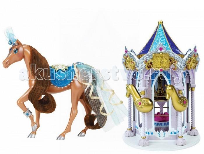 Pony Royal Набор Пони Рояль: карусель и королевская лошадь РосинкаНабор Пони Рояль: карусель и королевская лошадь РосинкаОчень яркая и стильная пони-принцесса Росинка знает толк в моде. Ее цвет нежно-голубой. Ее месяц декабрь. Ее камень-талисман, украшающий лоб - голубой цирконий. У пони шикарная грива, которую можно менять, а также расчесывать.  С волшебной каруселью Pony Royale ваша пони-принцесса готова к выходу в свет. Волшебная карусель - это такой шкаф для хранения модных аксессуаров и драгоценностей вашей пони. Карусель компактно складывается для удобства хранения.   Волшебные Пони-принцессы «Pony Royale» уникальны тем, что они созданы с подчеркнутой женственностью и грациозностью, обычно присущими фешн-куклам. Сделанные из высококачественного пластика, они обладают подвижной головой, а их мягкие гривы и хвосты можно расчесывать. Играя с этими красивыми и изящными лошадками, девочки могут почувствовать себя принцессами, которые заботятся о своих волшебных пони.  В наборе: пони-принцесса Росинка, Карусель для нарядов, дополнительные грива и хвост, расческа для укладки гривы и хвоста, 1 юбка.   Рост пони 16.5 см.<br>