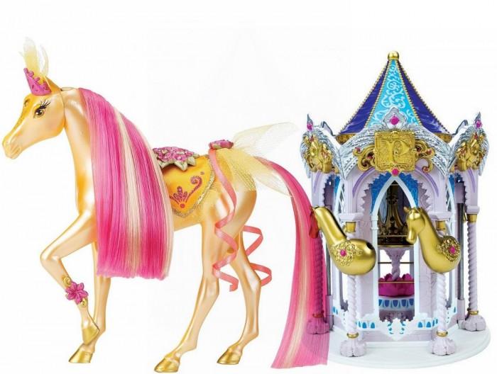 Pony Royal Набор Пони Рояль: карусель и королевская лошадь Солнечный лучНабор Пони Рояль: карусель и королевская лошадь Солнечный лучОчень яркая и стильная пони-принцесса Солнечный луч знает толк в моде. Ее цвет: ярко розовые акценты с золотистым прикосновением. Ее месяц ноябрь. Ее камень-талисман, украшающий лоб - топаз.  У пони шикарная грива, которую можно менять, а также расчесывать.   С волшебной каруселью Pony Royale ваша пони-принцесса готова к выходу в свет. Волшебная карусель - это такой шкаф для хранения модных аксессуаров и драгоценностей вашей пони. Карусель компактно складывается для удобства хранения.   Волшебные Пони-принцессы «Pony Royale» уникальны тем, что они созданы с подчеркнутой женственностью и грациозностью, обычно присущими фешн-куклам. Сделанные из высококачественного пластика, они обладают подвижной головой, а их мягкие гривы и хвосты можно расчесывать. Играя с этими красивыми и изящными лошадками, девочки могут почувствовать себя принцессами, которые заботятся о своих волшебных пони.  В наборе: пони-принцесса Солнечный луч, Карусель для нарядов, дополнительные грива и хвост, расческа для укладки гривы и хвоста, 1 юбка.   Рост пони 16.5 см.<br>